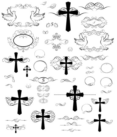 swashes: Easter vintage design