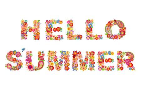 Hello, summer Illustration