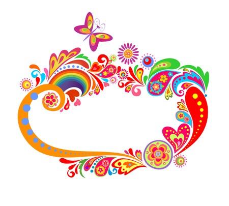Zomerse kleurrijke frame Vector Illustratie