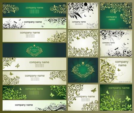 olive green: Vintage templates Illustration
