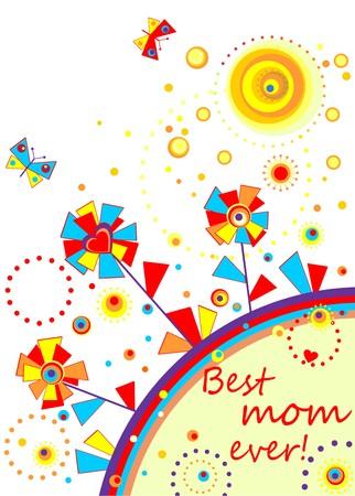 applique flower: Funny applique for mom