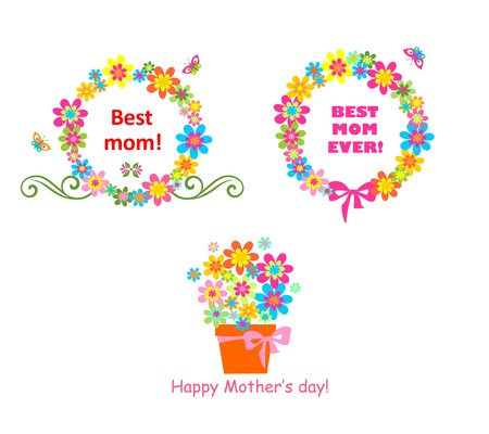 mother's day: Award for mom with flowers