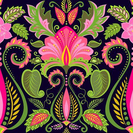 papier peint vintage avec motif floral