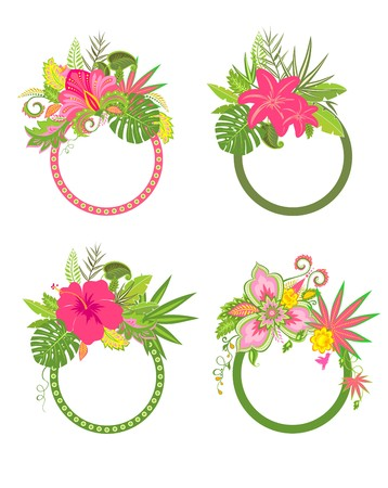 exotic flowers: Labels with exotic flowers