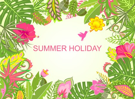 summer holiday: Summer holiday tropical background