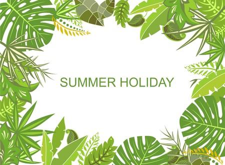 Summer tropical green background Vettoriali