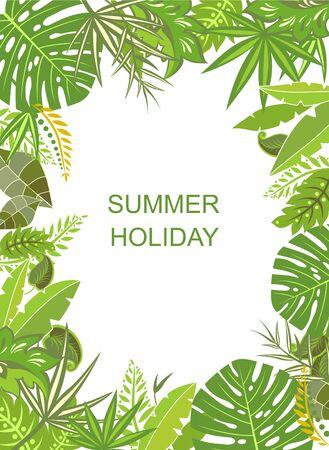 feuille arbre: Affiche verticale verte Tropical