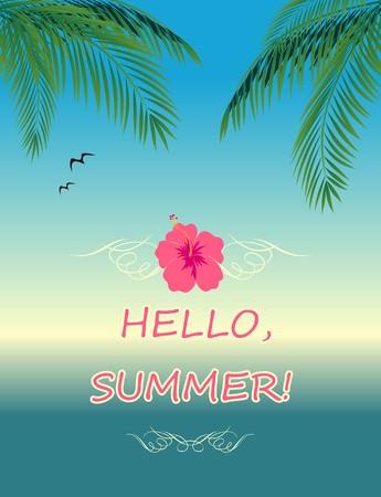 exotic fruit: Summery poster Illustration