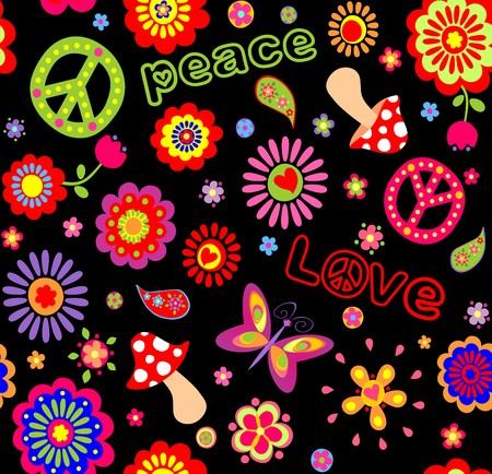 flowerpower: Hippie childish wallpaper