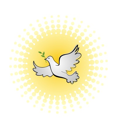 good spirits: Dove with olive branch