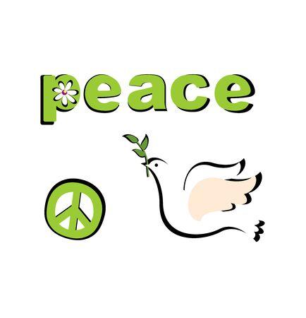 applique: Paper applique with peace symbolic Illustration