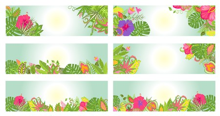 tropical: Tropical banners