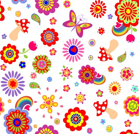 childish: Childish funny wallpaper with hippie symbolic