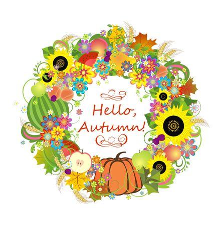 autumnal: Autumnal decorative wreath