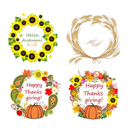 cucurbit: Autumnal frames Illustration