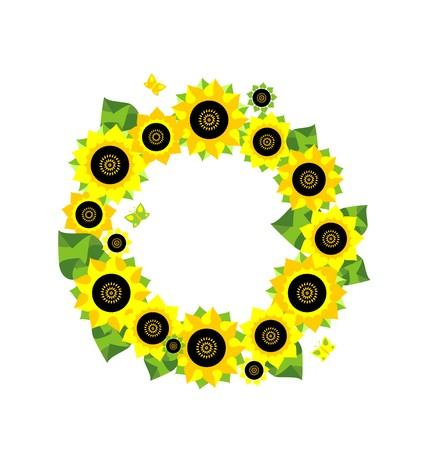 Frame with sunflower applique