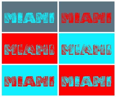 miami: Variation with Miami print