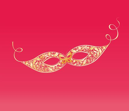 gaz: Vintage masque with floral golden pattern