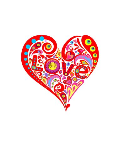 flowerpower: Funny hippie print with abstract heart shape