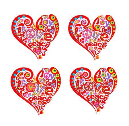 flowerpower: Hippie hearts collection