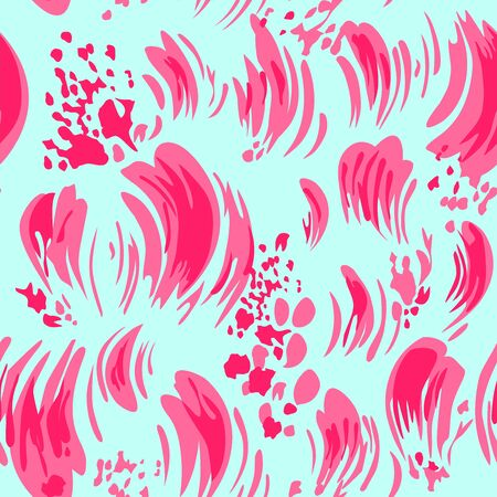 stroked: Beautiful stroked print with pink brush and splashes Illustration