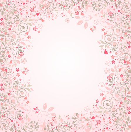 appletree: Beautiful wedding greeting card with oriental floral pattern Illustration