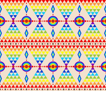 rainbow abstract: Ethnic wallpaper with abstract pattern