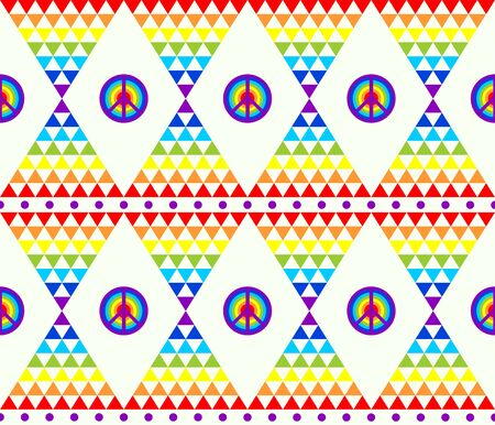 mosaic: Hippie abstract wallpaper with psychedelic triangle colorful pattern