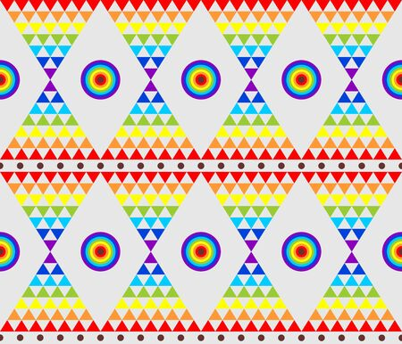 mosaic: Vintage abstract wallpaper with psychedelic triangle colorful pattern
