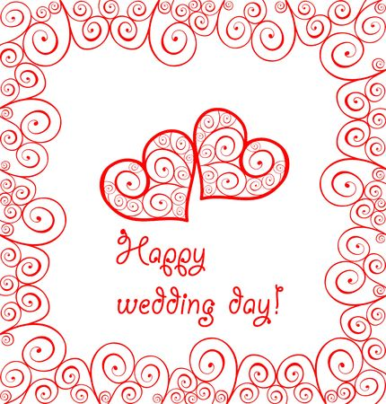 Greeting wedding card