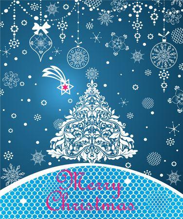 Christmas Xmas greeting card, decoration and Christmas star