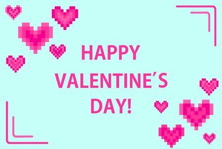 Horizontal banner for Valentines day Illusztráció