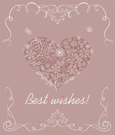 Valentines day greeting card for mothers day Vector Illustration