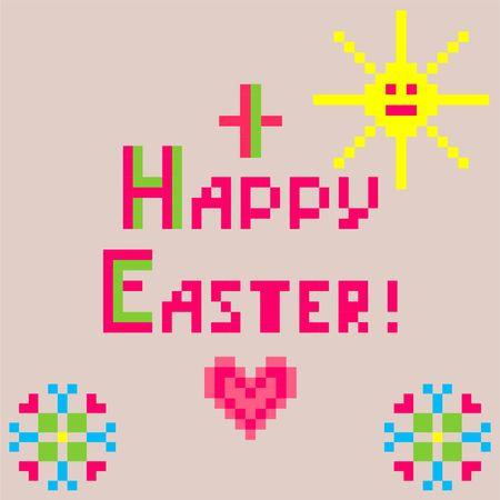 Servilleta de bebé y lino con bordado para Pascua con sol y corazón