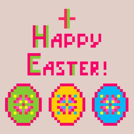 Easter egg with colorful egg shapes
