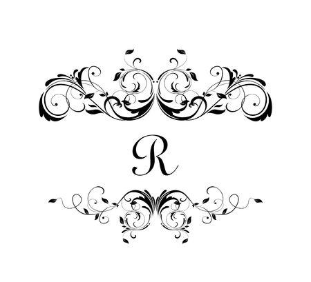 Royal floral frame for heraldic design, label, boutique, wedding invitation, monogram, ceremony