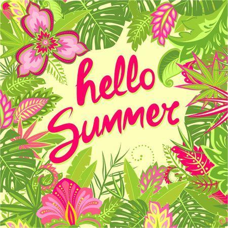 Summery greeting card, Tshirt, party poster Vektorové ilustrace