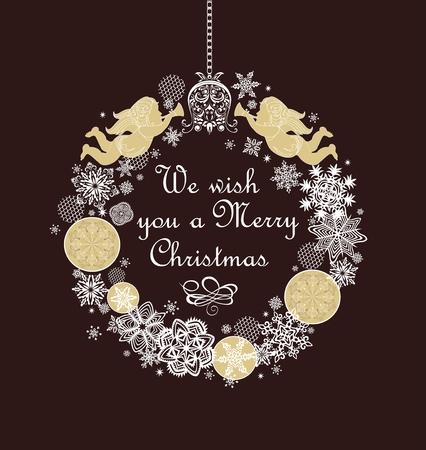Christmas greetings 矢量图像