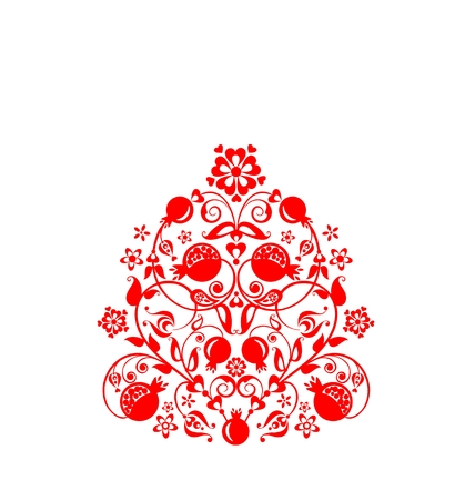 Beautiful floral and floral pattern.