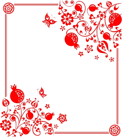 Greeting card with floral pattern
