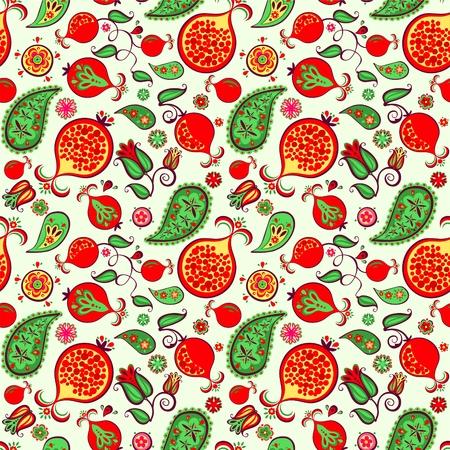 Seamless floral pattern oriental pattern
