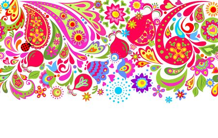 Floral pattern on white background.