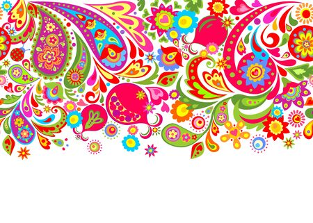 Paisley and pomegranate for textile design