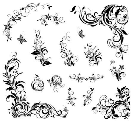 Décor floral pour la conception de mariage, livre, carte de voeux, invitations