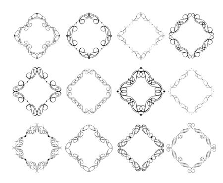 Calligraphic frames and  pattern  design