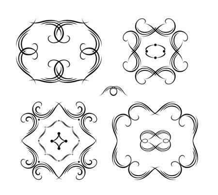 Vintage calligraphic frames and   design