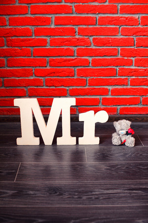 mr: Sign Mr with with a teddy bear