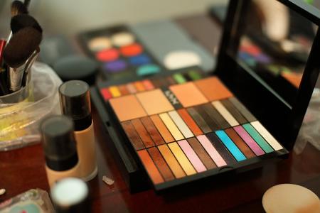 woman makeup: Female makeup kit