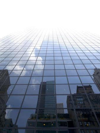 High modern skyscraper on a background of a bright sky. photo