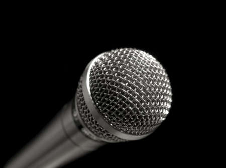 A dynamic microphone over a black background. Stock Photo - 3773309